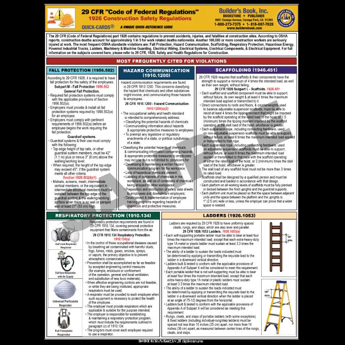 29 CFR Code of Federal Regulations 1926